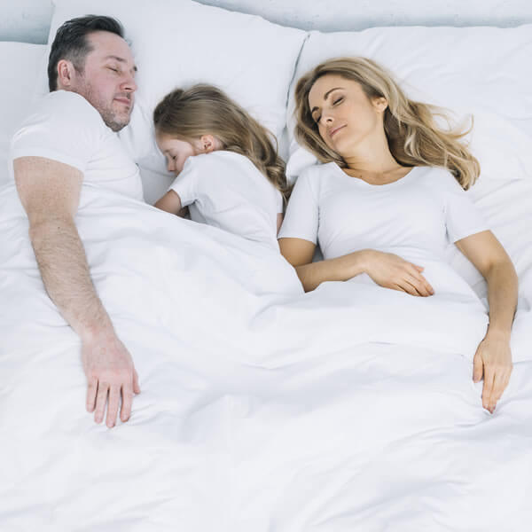 Child sleeping with parents
