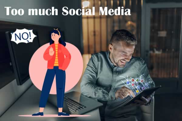 No to too much social media